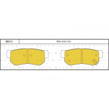 BB0224 BLITZ Колодки тормозные HYUNDAI/KIA
