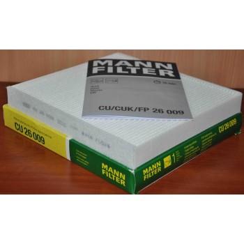 CU 26 009 MANN-FILTER Фильтр салона