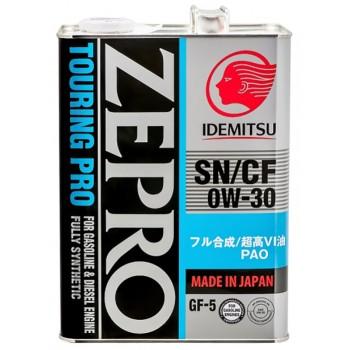 0W30 SN/CF  IDEMITSU ZEPRO TOURING  PRO F-S Масло моторное (железо/Япония (4L)
