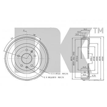 254002 NkБарабан тормозной LAND ROVER FREELANDER -06 1.8-2.5/DI