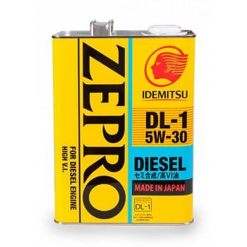 5W30 Diesel DL-1 IDEMITSU ZEPRO Масло моторное полусинт. (железо/Япония) (4L) (4)